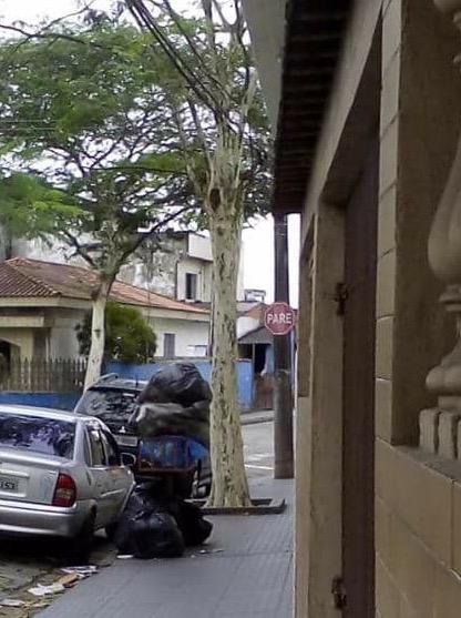 População começa a evitar de colocar o lixo na rua, mas sacos com detritos acumulam na maioria das portas. Foto de AndreHQ.