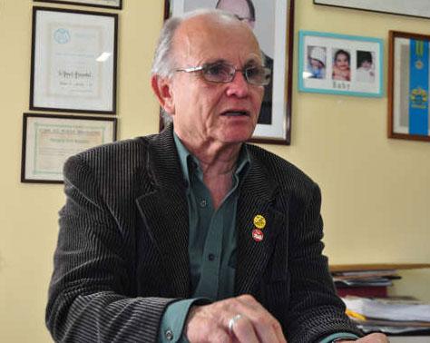 """Paulo Pimentel, presidente do SintraSaúde, considerou uma conquista importante da categoria: """"Alertamos sobre o compromisso dos governos prioritariamente com a Saúde"""""""